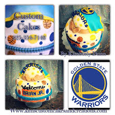 Sports Baby Shower Cake Ideas Baby Shower Cake Warriors Golden State Basketball Baby Cake