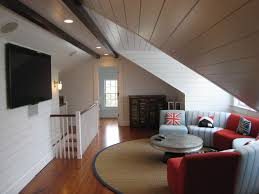 architecture cool attic rooms with armchair and branches with