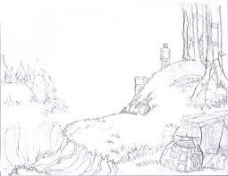 scott hallett sketchbook forest sketch