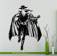 aliexpress com buy zorro wall sticker horse rider vinyl decal