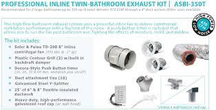 In Line Exhaust Fan Bathroom Hvacquick S U0026p Complete Fan Bath Ventilation Kits