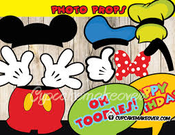 mickey mouse photo booth props complete your mickey mouse clubhouse themed birthday party with