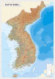 Physical Maps Maps Of South Korea Detailed Map Of South Korea In English