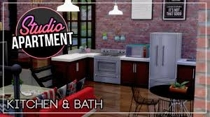 studio apartment build the sims 4 part 4 kitchen u0026 bath