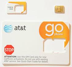 ready prepaid card at t prepaid go phone 3g nano sim card ready activate sku 72287