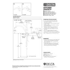 Delta Single Handle Kitchen Faucet With Spray Delta Faucet 441 Dst Collins Polished Chrome One Handle With