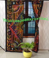 Cotton Drapes Burning Sun Indian Curtains Valances Room Divider Window Treatment