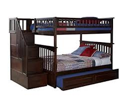 Amazoncom Columbia Staircase Bunk Bed With Trundle Bed Full - Full bunk bed with stairs