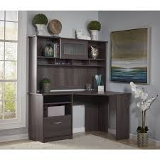 Oak Corner Computer Desk With Hutch by Furniture L Shaped Charcoal Grey Wood Corner Computer Desk With Hutch