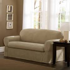 Slipcovers T Cushion Sure Fit Stretch Suede 2 Piece T Cushion Sofa Slipcover