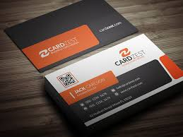 business card stylish orange corporate business card template cardzest