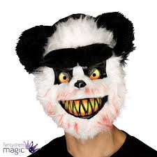 bear halloween mask killer critter zombie panda bear evil horror halloween fancy