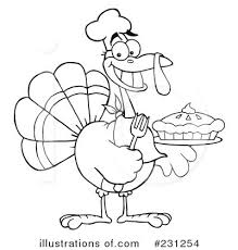 thanksgiving turkey clipart 231254 illustration by hit