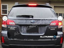 2008 subaru outback brake light bulb how to replace brake and reverse incandescent light bulbs with led