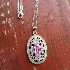 pink crystal pendant necklace images 57 off jewelry sterling silver pink crystal pendant necklace jpg