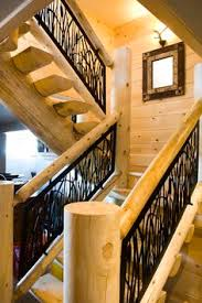 gorgeous balcony panel in this cozy cottage loft railing metal