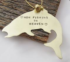 memorial gifts for loss of metal trout ornament memorial fishing ornament aftcra