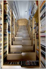Dvd Storage by Atrractive Wooden Decorate A Staircase Idea With Shelves On The