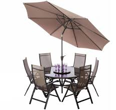 Sorrento Patio Furniture by Royalcraft Sorrento Taupe 8pc 6 Seater Round Recliner Set With