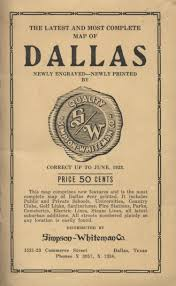 Map Of Dallas Texas Simpson Whiteman Co Map Of Dallas Texas 1923 Accompanying Text