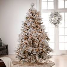 white tree with decorations lights decoration