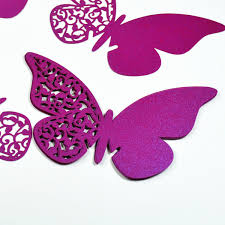 100pcs lot pearl paper butterfly laser cut cup card invitation card