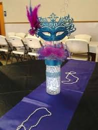 Sweet 16 Party Centerpieces For Tables by Like The Masks But Not A Fan Of The All White Theme The Simple