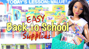 diy how to make easy back to supplies craft 4k