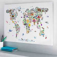 Kuwait On A Map Animal World Map Print By Artpause Notonthehighstreet Com