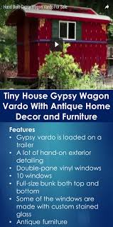 Tiny Furniture Trailer by Tiny House Gypsy Wagon Vardo With Antique Home Decor And Furniture