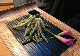 food design catering green bean tempura tempura dipping sauce