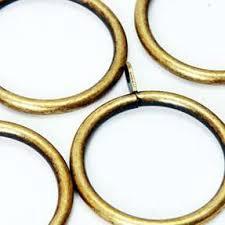 Antique Brass Curtain Rings Brass Standard Metal U0026 Wooden Curtain Poles Harry Corry
