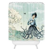 Artistic Shower Curtains Belle13 Sea Shower Curtain House And Decorating