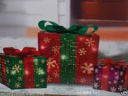 Christmas Decorations Outdoor Presents by Lighted Christmas Holiday Indoor Outdoor Gift Boxes Party