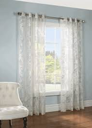 sheer drapes and curtains chablis floral linen burnout sheer