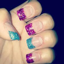glitter acrylic nail tips my nail art pinterest glitter