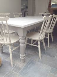 white painted dining table and chairs with design gallery 7965