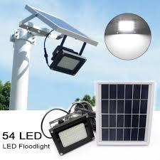 solar led flood lights 54 led waterproof solar powered sensor flood light outdoor garden