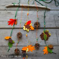 fall traced leaves wall hanging