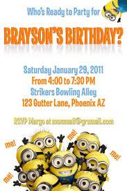 free printable minion birthday party invitations gallery