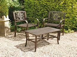 outdoor garden tables uk uk gardens bronze metal 3 piece bistro garden table and 2 chairs