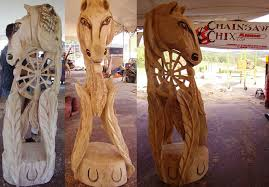 collection of magnificent woodworks chainsaw carvings from australia
