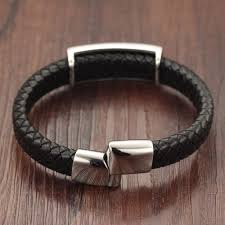 bracelet leather mens images Trustylan punk rock skull bracelet men fashion stainless steel jpg