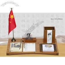 imitation bamboo office desktop set with desk calendar memo