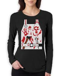 bloody nurse doctor zombie halloween costume women long sleeve t