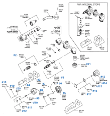 price pfister kitchen faucet parts diagram price pfister repair parts for three handle tub shower series