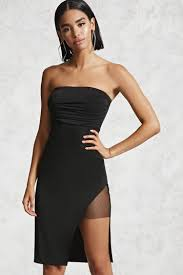 Draped Black Dress Contemporary Draped Tube Dress Forever 21 2000133637