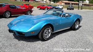 1975 corvette stingray for sale 1975 bright blue corvette convertible stingray for sale
