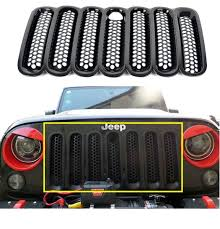 jeep black 2015 amazon com opar black front mesh grille insert with key hood lock