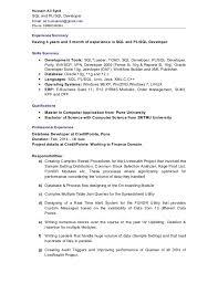 Oracle Pl Sql Resume Sample by Resume